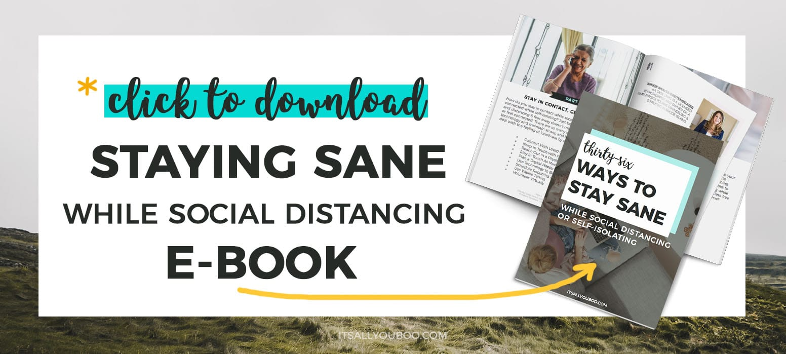Get your FREE Staying Sane While Social Distancing eBook