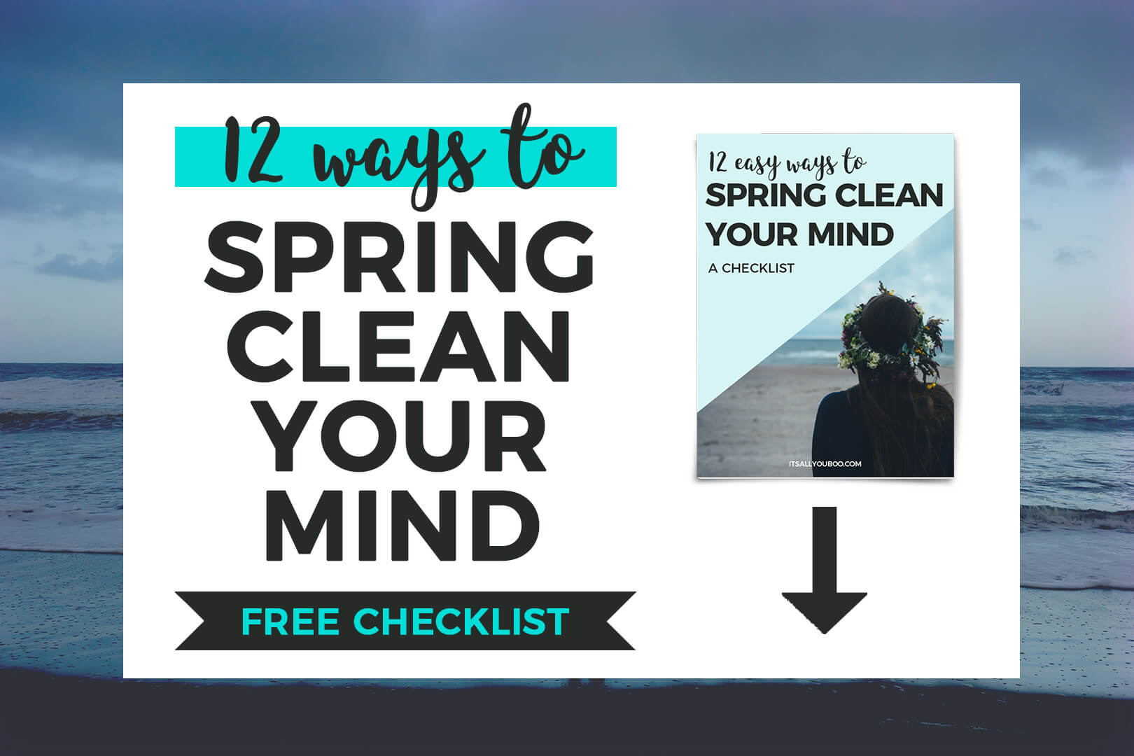 12 Ways to Spring Clean Your Mind FREE CHECKLIST + preview of free download checklist cover