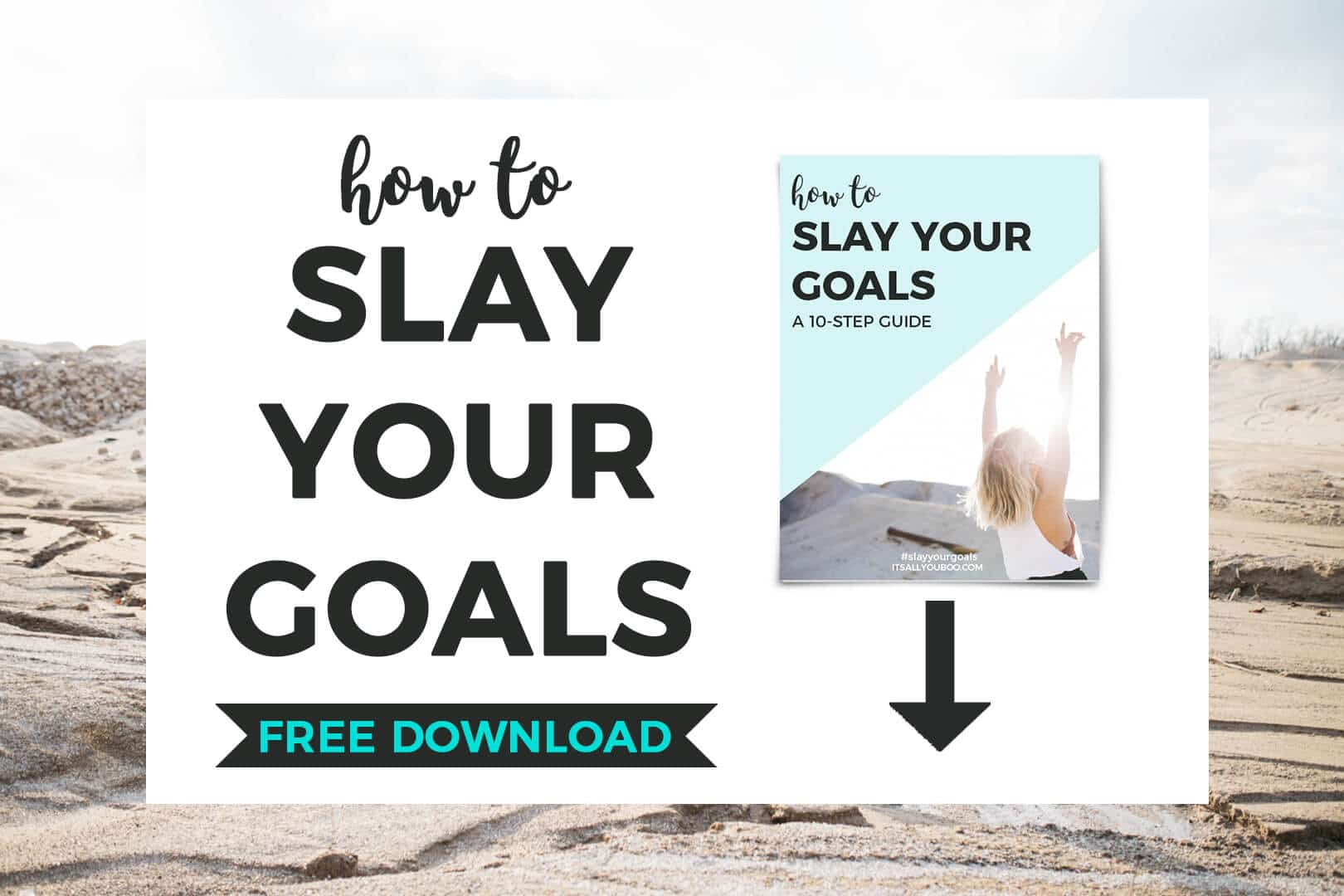 How to Slay Your Goals FREE DOWNLOAD + preview image of free guide