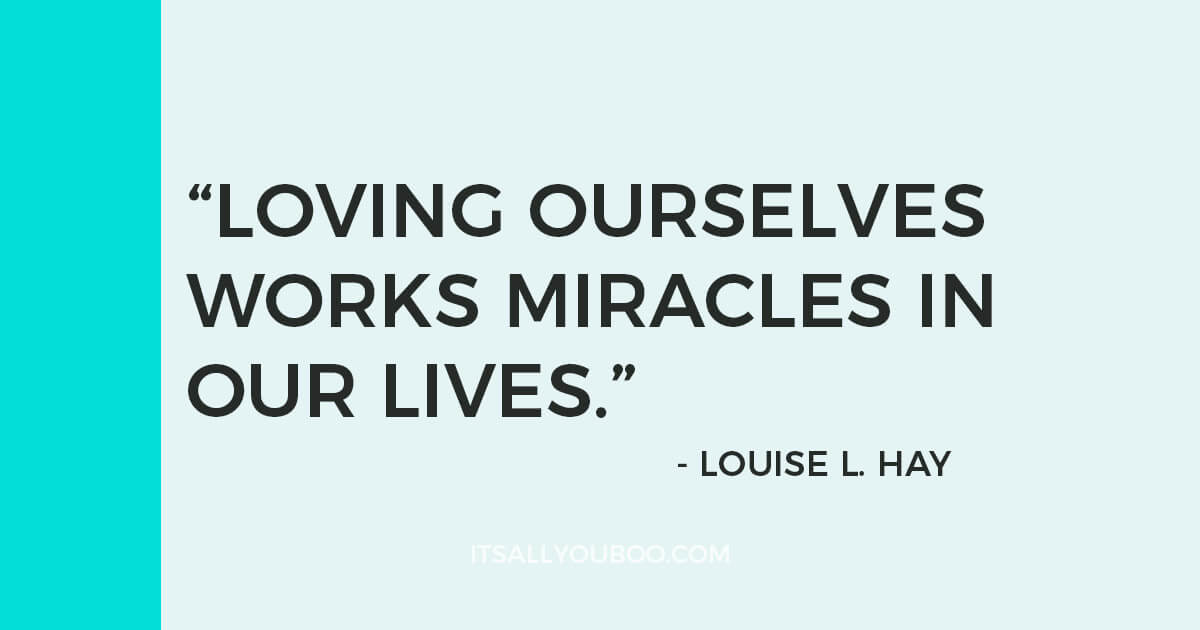 """Quote: """"Love is the great miracle cure. Loving ourselves works miracles in our lives."""" - Louise L. Hay"""