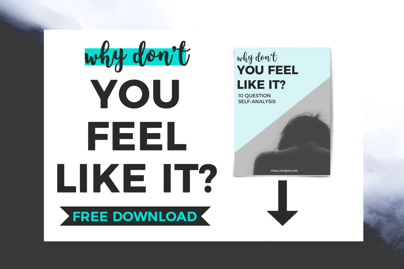 Why don't you feel like it free workbook download with cover image