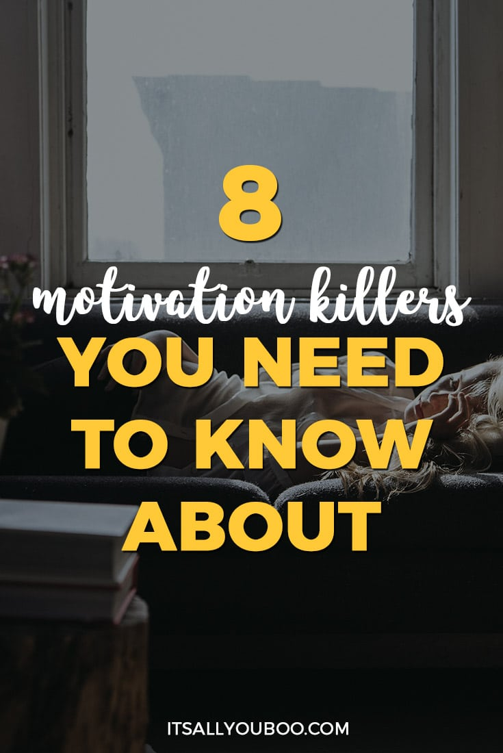8 Motivation Killers You Need to Know About, Pinterest Pin