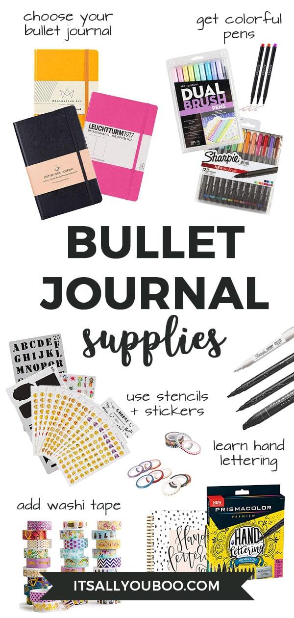 How to start a bullet journal supplies