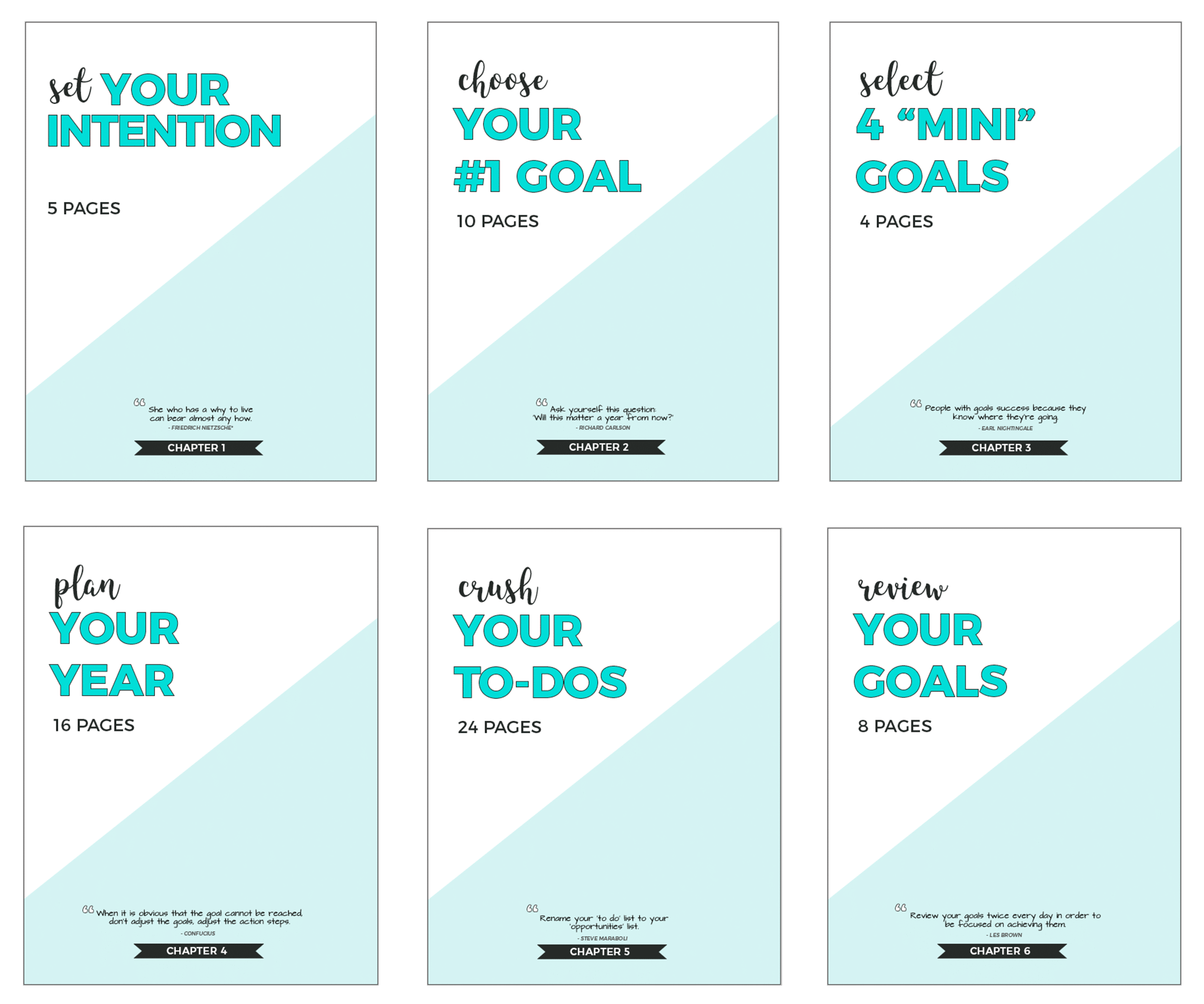 6 Chapters of the Slay Your Goals Planner