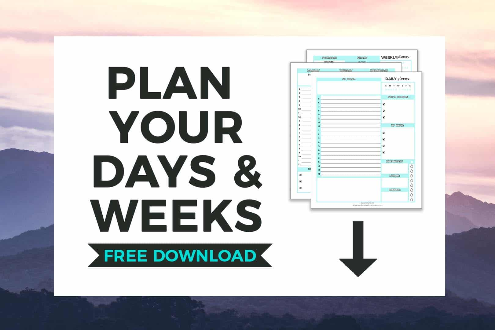 FREE Daily & Weekly Planner Printable