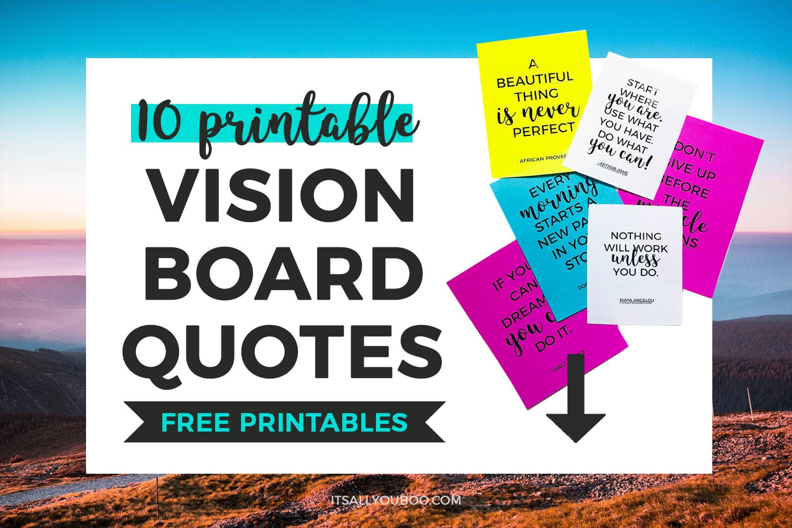 10 FREE Printable Vision Board Quotes
