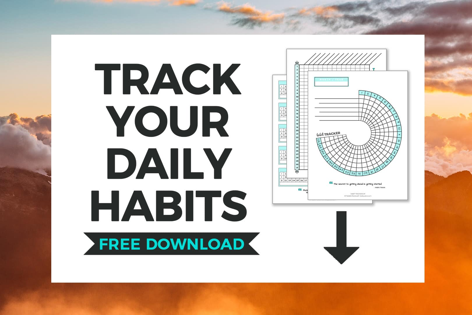 image about Daily Habit Tracker Printable referred to as Absolutely free Routine Tracker Template Its All On your own Boo