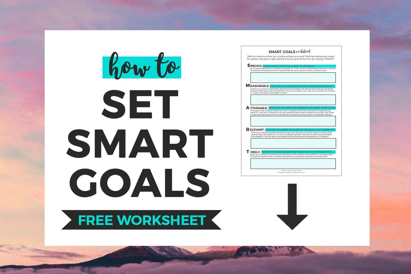 SMART Goals FREE Worksheet