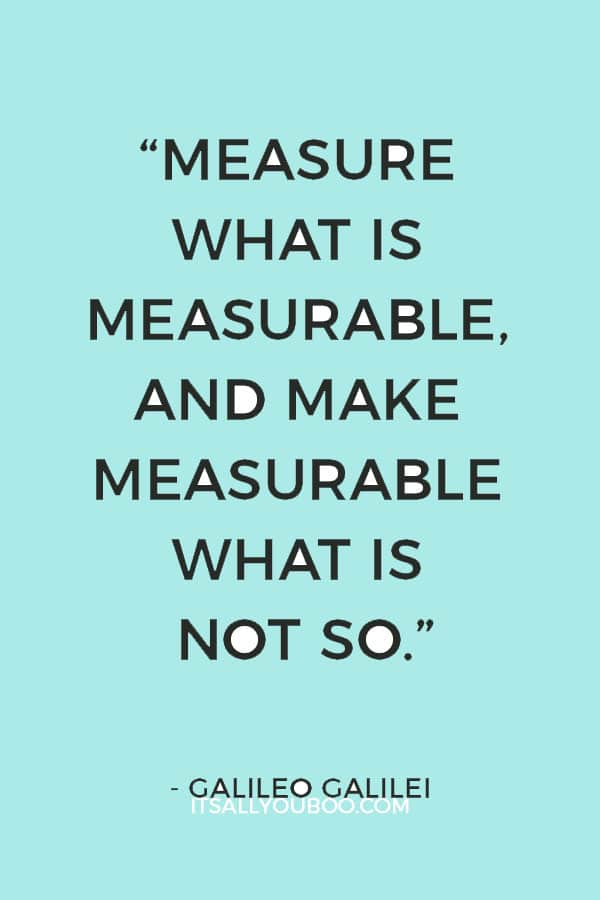 """Measure what is measurable, and make measurable what is not so."" – Galileo Galilei"