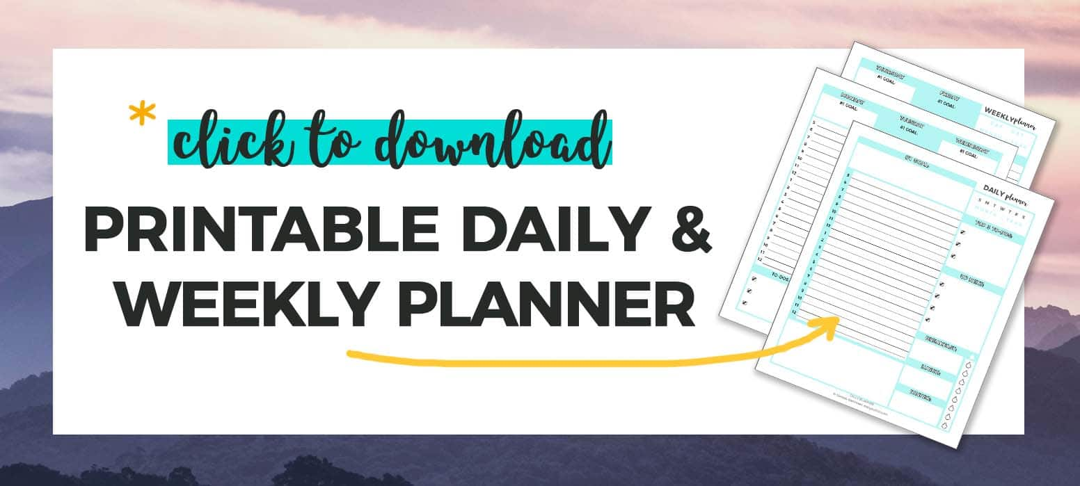 Printable Daily & Weekly Planner