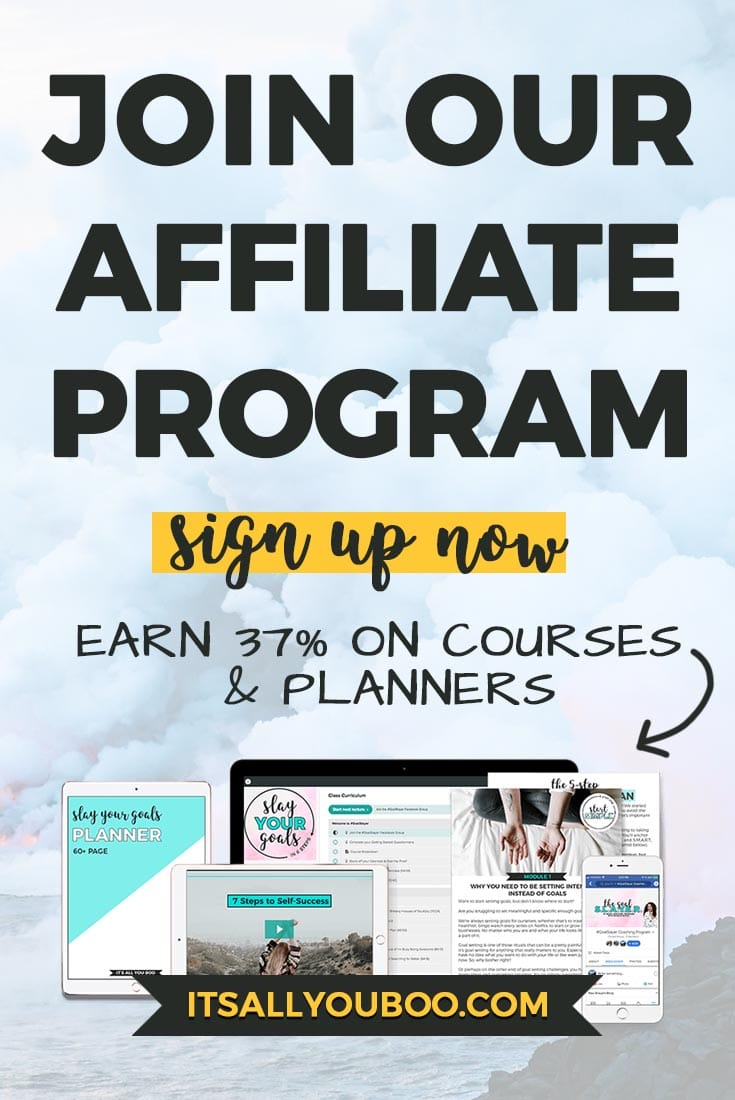 Do you write about goal setting, productivity or personal development? Make money online promoting a product that your audience will love! Join our affiliate program are earn 37% commission on planners and courses. #affiliatemarketing #affiliate #affiliateprogram #makemoneyonline #makemoneyblogging #earnmoneyonline#makemoneyfromhome #workathome #workfromhome #onlinebusiness #onlinemarketing #passiveincome #goals #goaldigger #goalsetting #blogger #bloggingtips #bloggers #planner #plannerlove