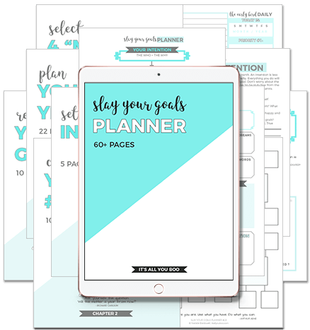 graphic relating to Goal Planner Printable called Get hold of Your 60+ Website page Printable Slay Your Plans Planner Its