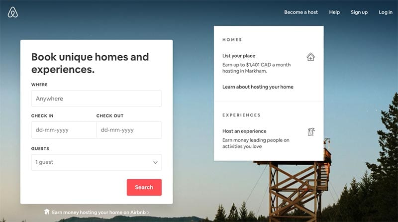 Make money at home renting a room on Airbnb
