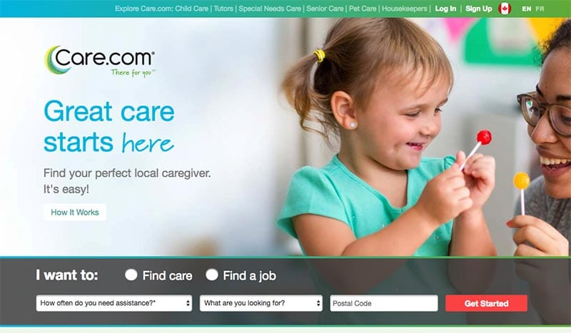 Make money working from home as a babysitter on care.com