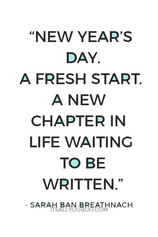 new years day a fresh start a new chapter in life waiting to