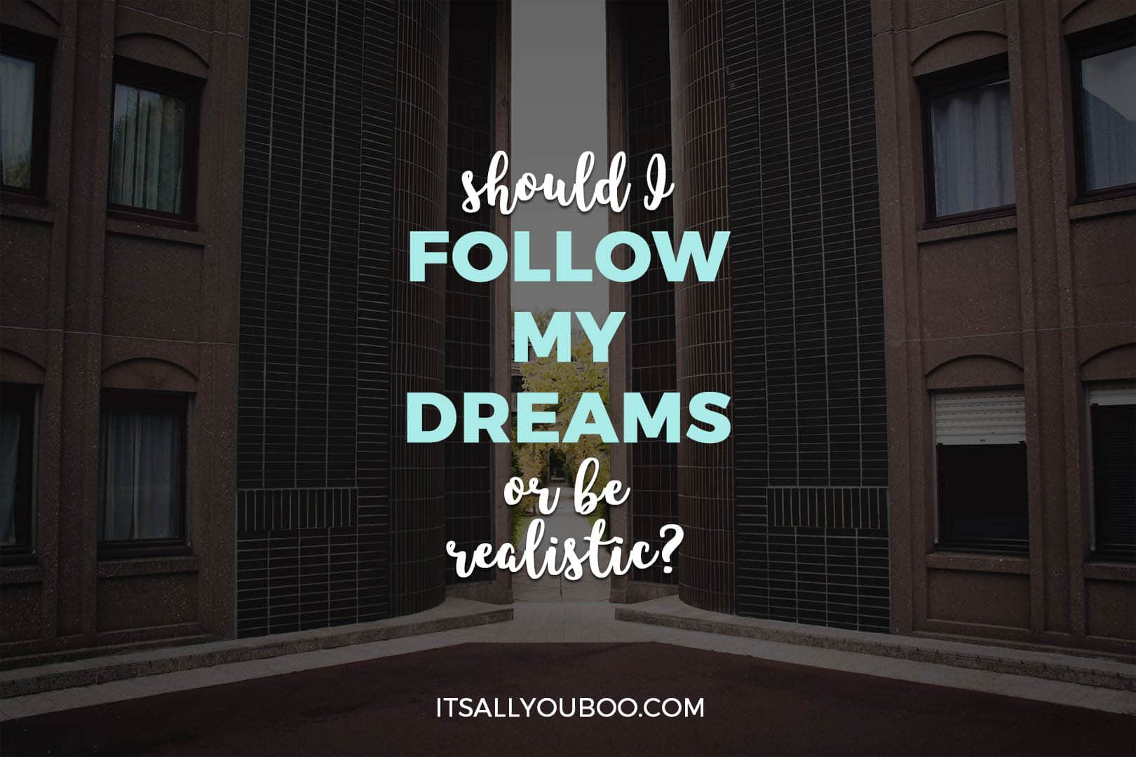 Should I Follow My Dreams or Be Realistic?
