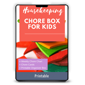 Housekeeping Chore Box for Kids and Families