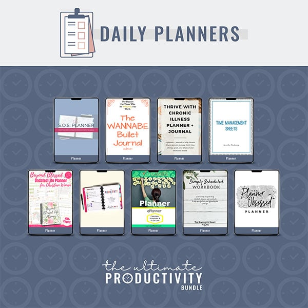 Daily Planners, Ultimate Productivity Bundle