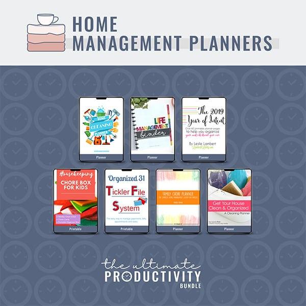 Home Management Planners, Ultimate Productivity Bundle