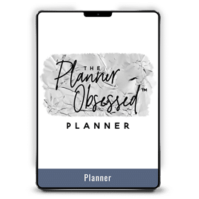 The Planner Obsessed Planner