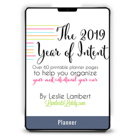 Year of Intent by Leslie Lambert