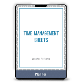 Time Management Sheets, Ultimate Bundle