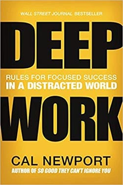 Deep Work by Cal Newport - best productivity books