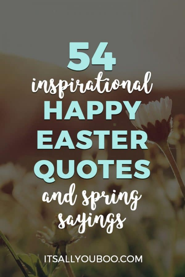 inspirational happy easter quotes and spring sayings-pin