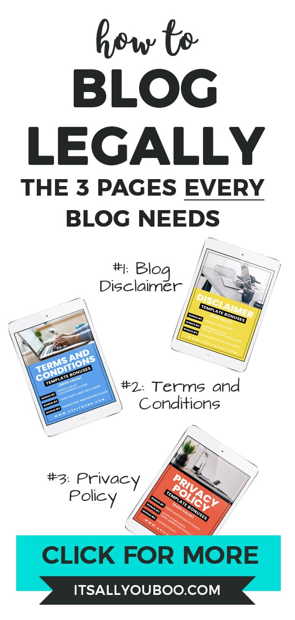 How to Blog Legally: the 3 pages every blog needs