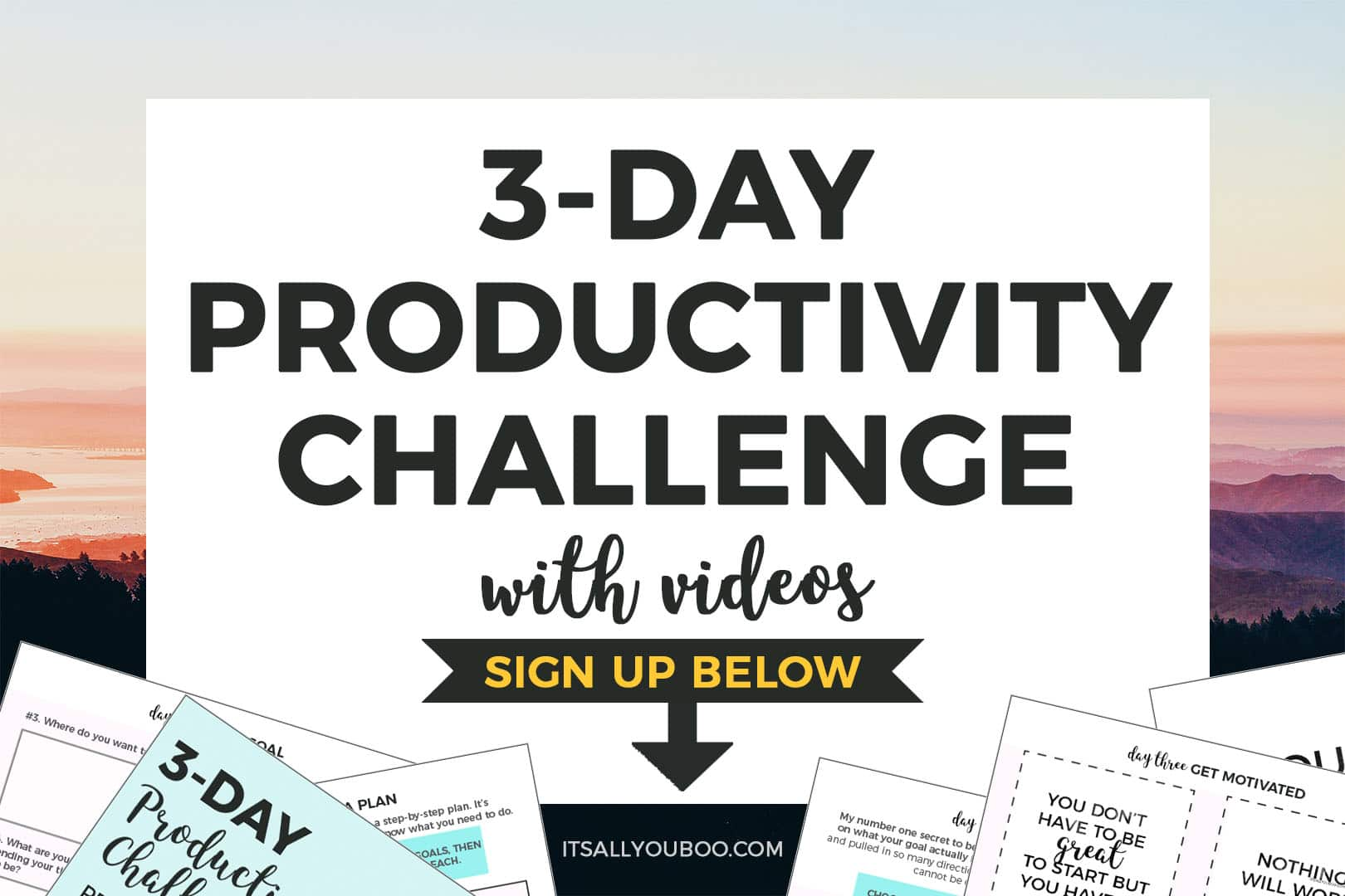 Sign up for FREE 3-Day Productivity Challenge