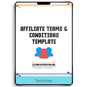 Affiliate Terms and Conditions Template and Disclosure Swipe Copy (Template)