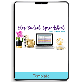Blog Budget Spreadsheet (Template)