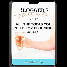 Blogger's Glitterati VIP Hub: 12 Month Membership (Membership Site)