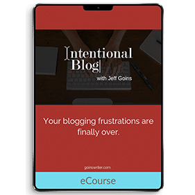 Intentional Blog (eCourse)