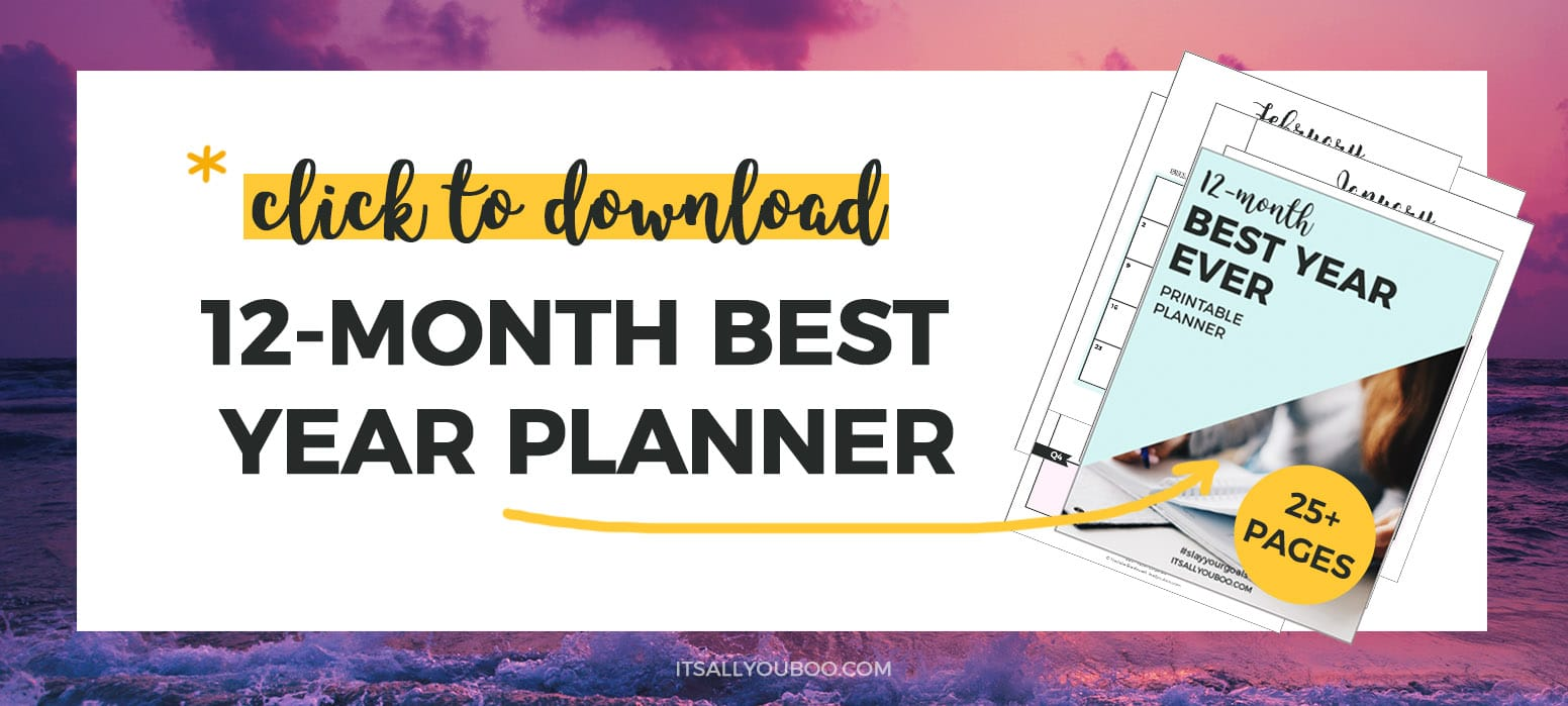 Get Your Free 12-Month Printable Planner