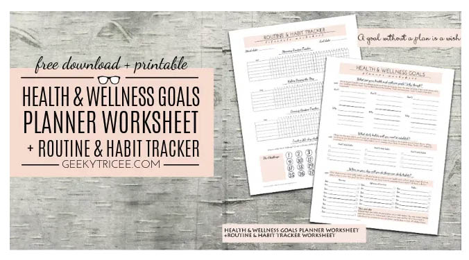 Free Printables and Free Trackers - Wellness