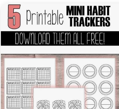100 Best Freebies and Free Course - Free Habit Trackers