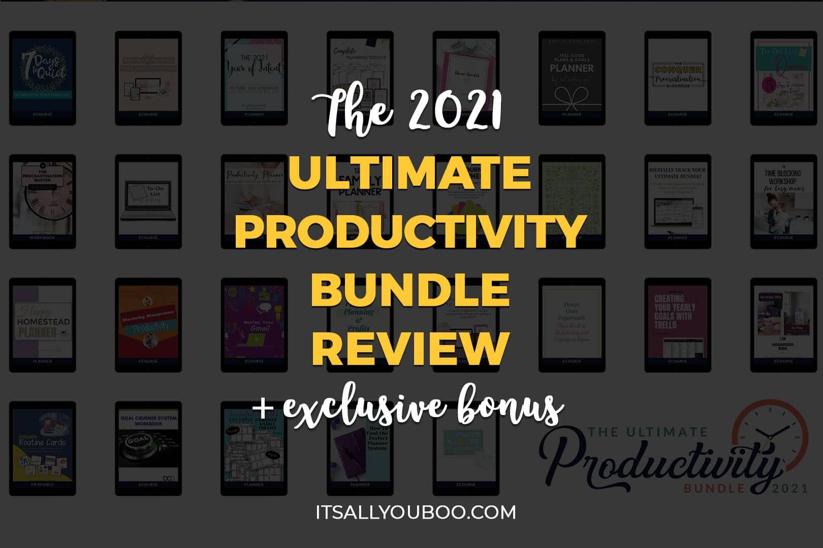 Ultimate Productivity Bundle 2021 Review + Exclusive Bonus