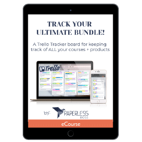 Productivity Bundle Trello Tracking Board