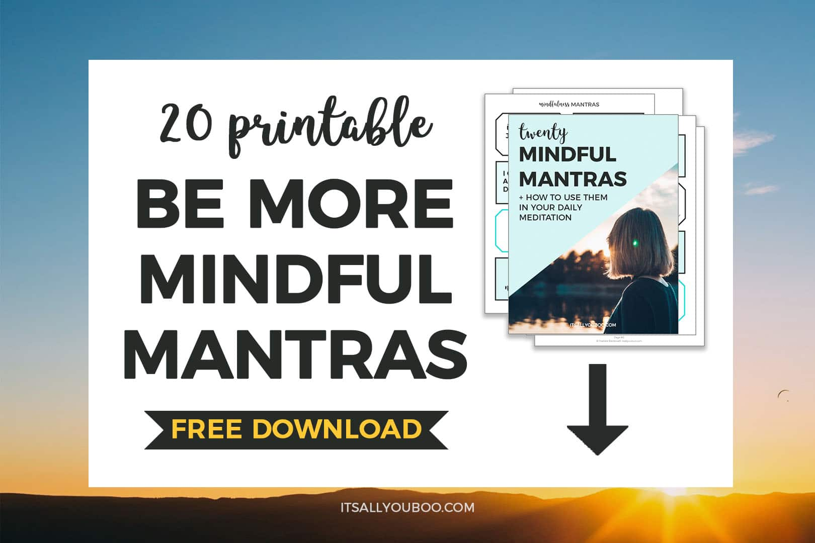 Free Printable Mindfulness Mantras for Stress or Anxiety