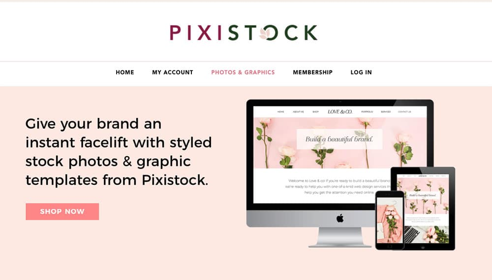 get stock photos and graphics for new blog from pixistock
