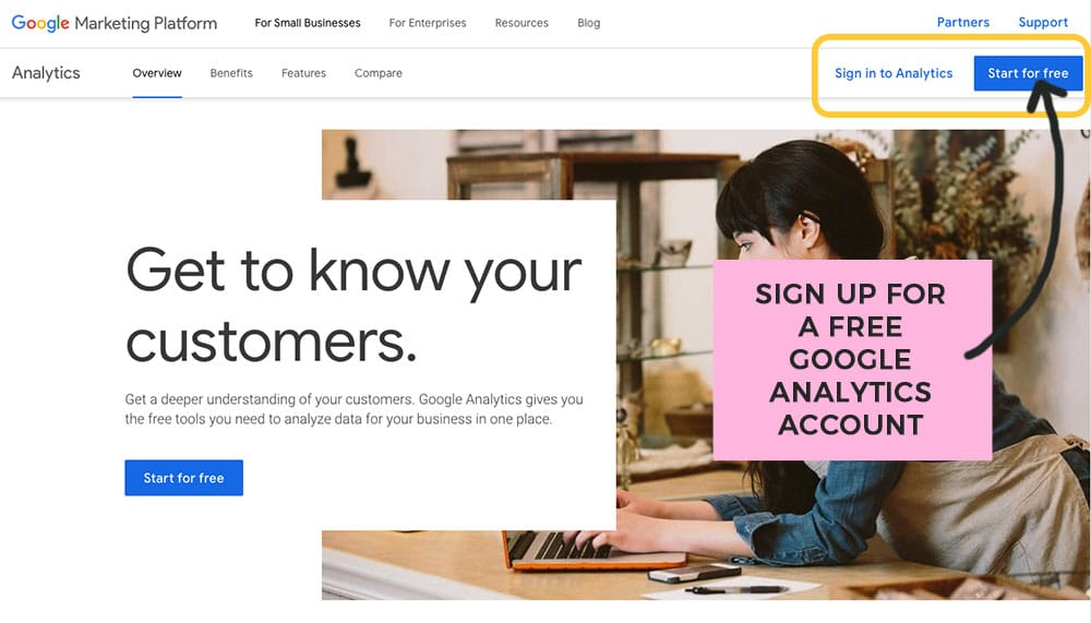 add google analytics to your new blog