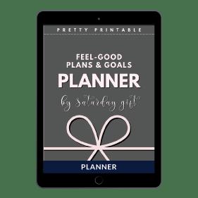 Feel Good Plans Goals Planner