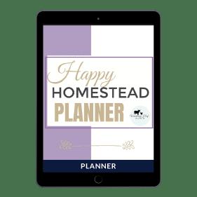 Happy Homestead Planner