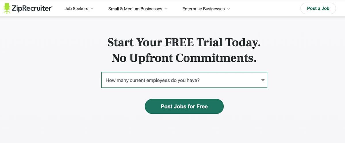 Start Your FREE Trail Today ZipRecruiter
