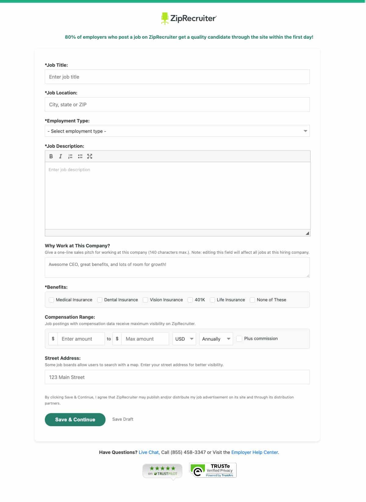 Posting Your Job on ZipRecruiter