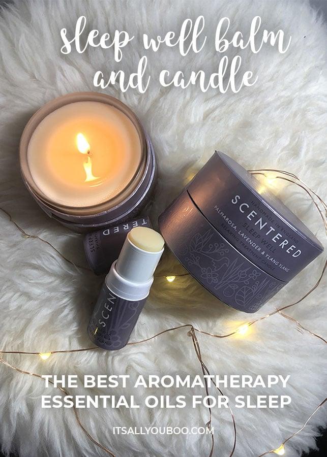 Scentered Sleep Well Aromatherapy Balm and Candle for Sleep