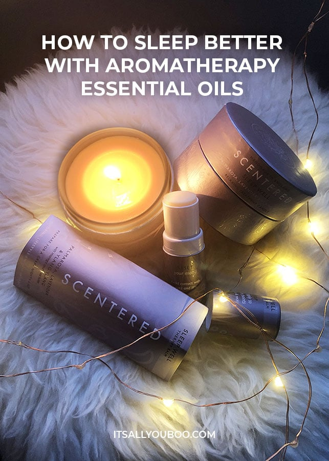 Sleep Better with Aromatherapy Essential Oils-Scentered SLEEP WELL Balm Candle