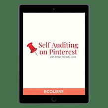 Self Auditing on Pinterest