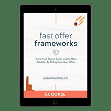 Fast Offer Frameworks